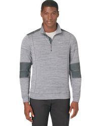 Calvin Klein Quarter Zip Pullover - Lyst