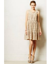 Anna Sui Elko Eyelet Dress - Lyst