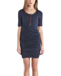 A.L.C. Twisty Dress In Navy blue - Lyst