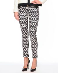 Fausto Puglisi - Pants with Printed Denim Front and Leather Back - Lyst