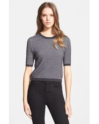 Haute Hippie Women'S Crop Crewneck Sweater - Lyst