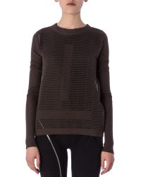 Rick Owens Crew Neck Sweater In Cutout Knit - Lyst