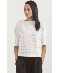 Band of Outsiders Embroidered Popover white - Lyst