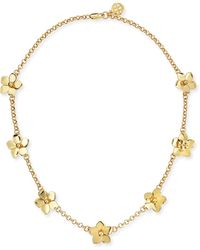Tory Burch Golden Cecily Simple Floral Necklace - Lyst