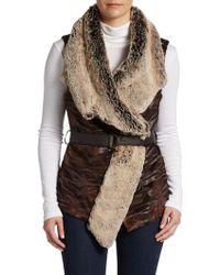 5/48 Draped Faux Fur Vest - Lyst