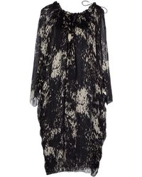 Lanvin Printed Flared Hem Dress black - Lyst