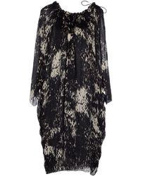 Lanvin Printed Flared Hem Dress black - Lyst