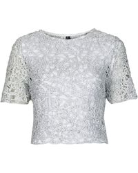Topshop Limited Edition Corn Lace Crop Top - Lyst