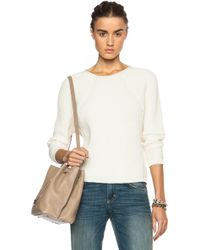 J Brand Reese Cotton-Blend Sweater - Lyst