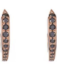 Tilda Biehn - Diamond & Rose-gold Comet Hoops Earrings - Lyst