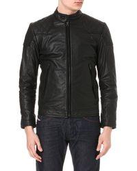 Diesel Laleta Leather Jacket - Lyst