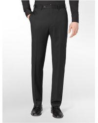 Calvin Klein White Label Body Slim Fit Black Stripe Wool Suit Pants - Lyst