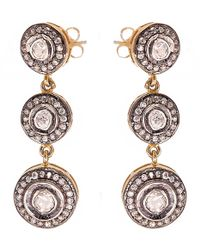 Kastur Jewels - Triple Drop Earrings - Lyst