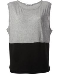 T By Alexander Wang Colour Block Vest - Lyst