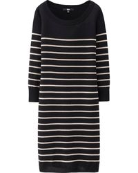 Uniqlo Women Extra Fine Merino Round Neck Dress - Lyst