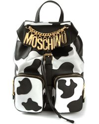 Moschino Cow Print Backpack - Lyst