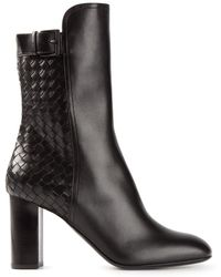 Bottega Veneta Intrecciato Ankle Boots - Lyst