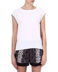 Sandro Ebats Chain Sleeve T-shirt - Lyst