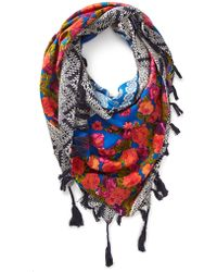 Forever 21 - Mixed Print Tassel Scarf - Lyst