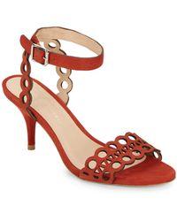 Loeffler Randall Opal Geometric Cutout Nubuck Sandals - Lyst