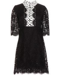 Dolce & Gabbana Printed Lace Dress - Lyst