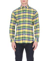 Ralph Lauren Check Patterned Cotton Flannel Shirt - Lyst