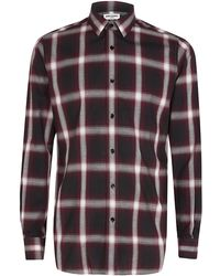 Saint Laurent Purple Check Shirt - Lyst