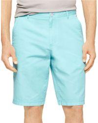 Calvin Klein Bedford Chino Shorts blue - Lyst