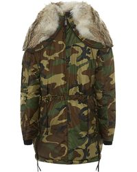 DSquared2 Fur-trimmed Down Jacket - Lyst