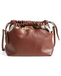 Burberry 'Little Crush' House Check Crossbody Bag brown - Lyst
