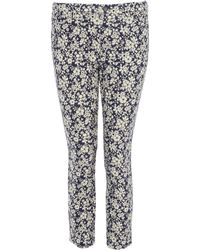 Uniqlo | Maddsie Navy Printed Cropped Legging Trousers | Lyst