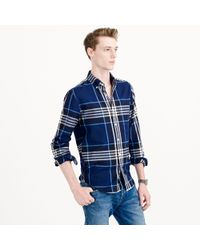 J.Crew Thomas Mason Flannel Shirt in Midnight Plaid - Lyst