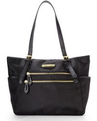 Franco Sarto Black Class Act Fabric Tote Lyst