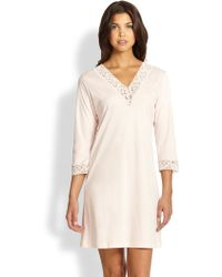 Hanro Moments Three-Quarter Sleeve Sleepshirt - Lyst