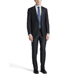 Ermenegildo Zegna Tonal Striped Peak Lapel Suit - Lyst