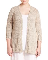 Eileen Fisher | Rustic Twisted-tape Open Cardigan | Lyst