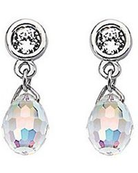 Swarovski Aurora Borealis Crystal Drop Earrings silver - Lyst