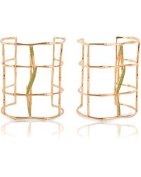 Vara Of London - Bamboo Leaves Cuff - Lyst
