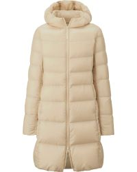 Uniqlo Women Ultra Light Down Hooded Coat - Lyst