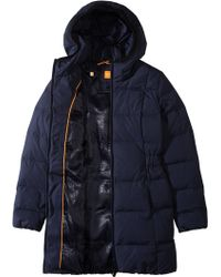 BOSS Orange - Quilted Coat 'Ordalia2' With Down - Lyst