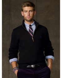 Polo Ralph Lauren Cotton Half Zip Sweater - Lyst