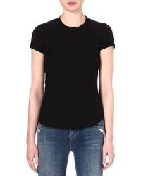 James Perse Crew-neck Cotton T-shirt - Lyst
