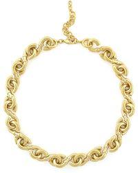 Cole Haan - Goldtone S-link Necklace - Lyst