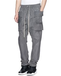 DRKSHDW by Rick Owens 'Creatch' Waxed Cotton Cargo Pants - Lyst