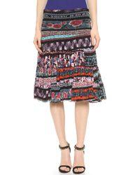 Jean Paul Gaultier Pleated Skirt - Blue Multi - Lyst