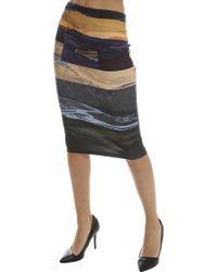 McQ Alexander McQueen | Color Block Skirt | Lyst
