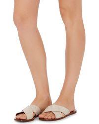 Avec Moderation | Calf Leather Corallo Criss Cross Sandals | Lyst