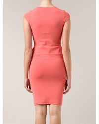 Narciso Rodriguez Fitted Dress - Lyst