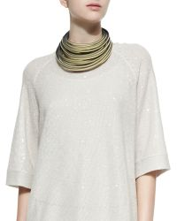 Brunello Cucinelli - Multi-Layered Leather Necklace - Lyst