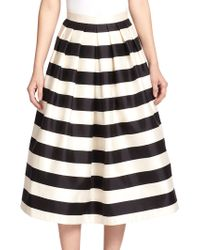 Tibi Escalante Striped Silk A-line Skirt - Lyst